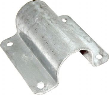 Pipe Clamp, wide, 60.3 mm, galvanised150 x 100 x 5 mm
