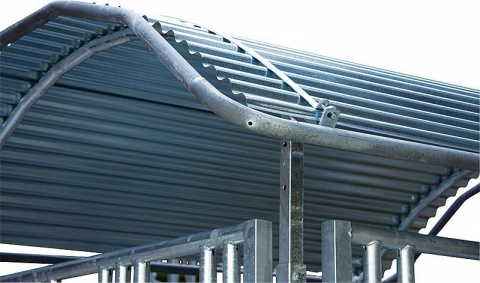 Roof-Edge Protection, galv. steel tube(for big bale feeder)