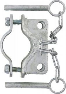 Clamp, diam. 60 mm, 2 fasteners,parallel, galv.