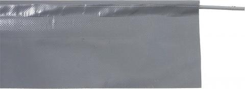 Bottom Flap with Kador Cord Height 51 cm, colour grey, per metre