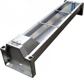 Quick-Drain Trough 2.3 m (160 l)model 6223 for wall mounting, stainless steel