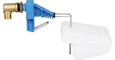 """Low-Pressure Valve (blue) with float ,connection 1/2"""", for pasture troughs,"""