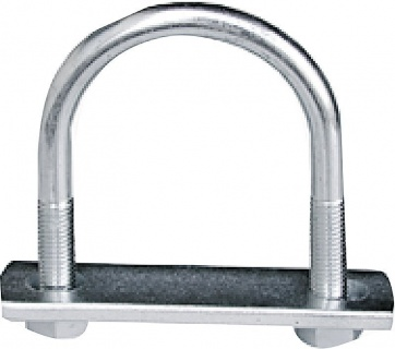 U-Bolt, 2''/M10, galvanised