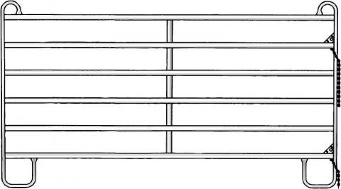 Panou-6, 3.00 m, H = 1.70 m galvanizat