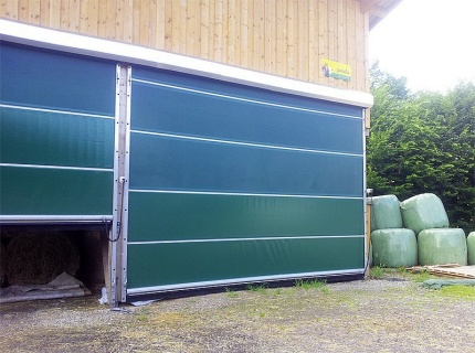 Electric Agridoor 2.5x5.1M width 2.50m, height 5.10m, kit without motor and switch