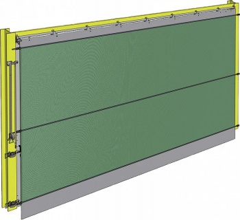 Trackscreen, height 3.0 m,width 4.0 m