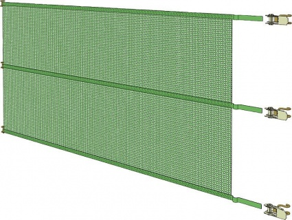 Bayscreen, width 9.1 m, height  3 m