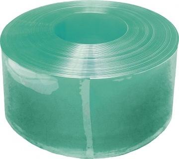 PVC Strip Compact 300 x 3 mm, green translucent, 25 m roll