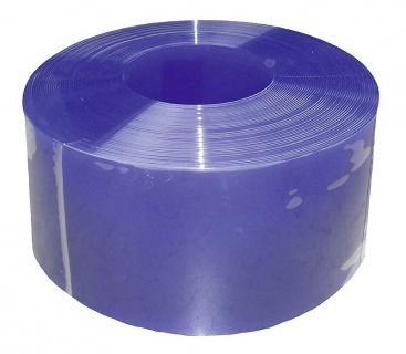 PVC Strip 300 x 3 mm, blue translucent,25 m roll